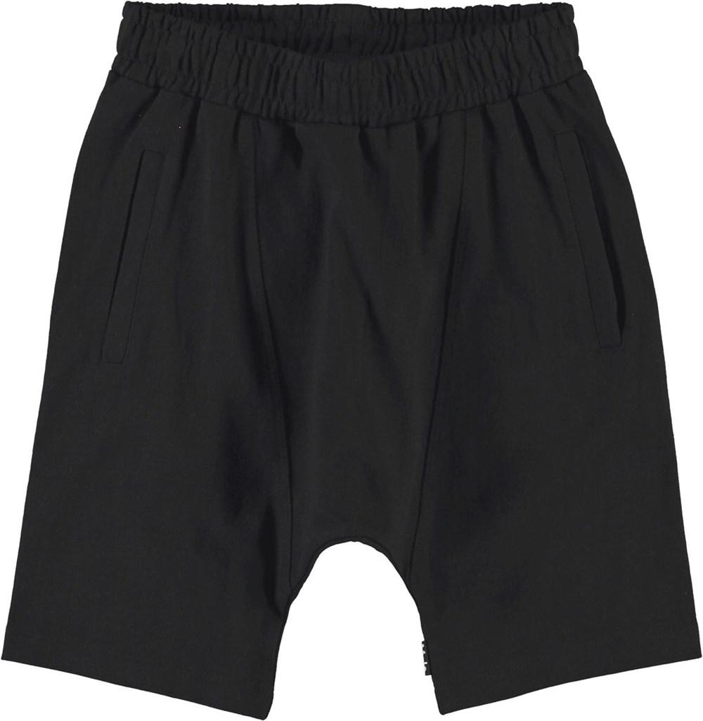 Anders - Black - Økologiske sorte sweat shorts