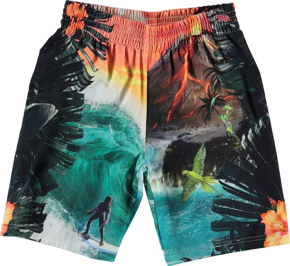 Angelo - Wildest Island - Hawaii shorts med vulkan print