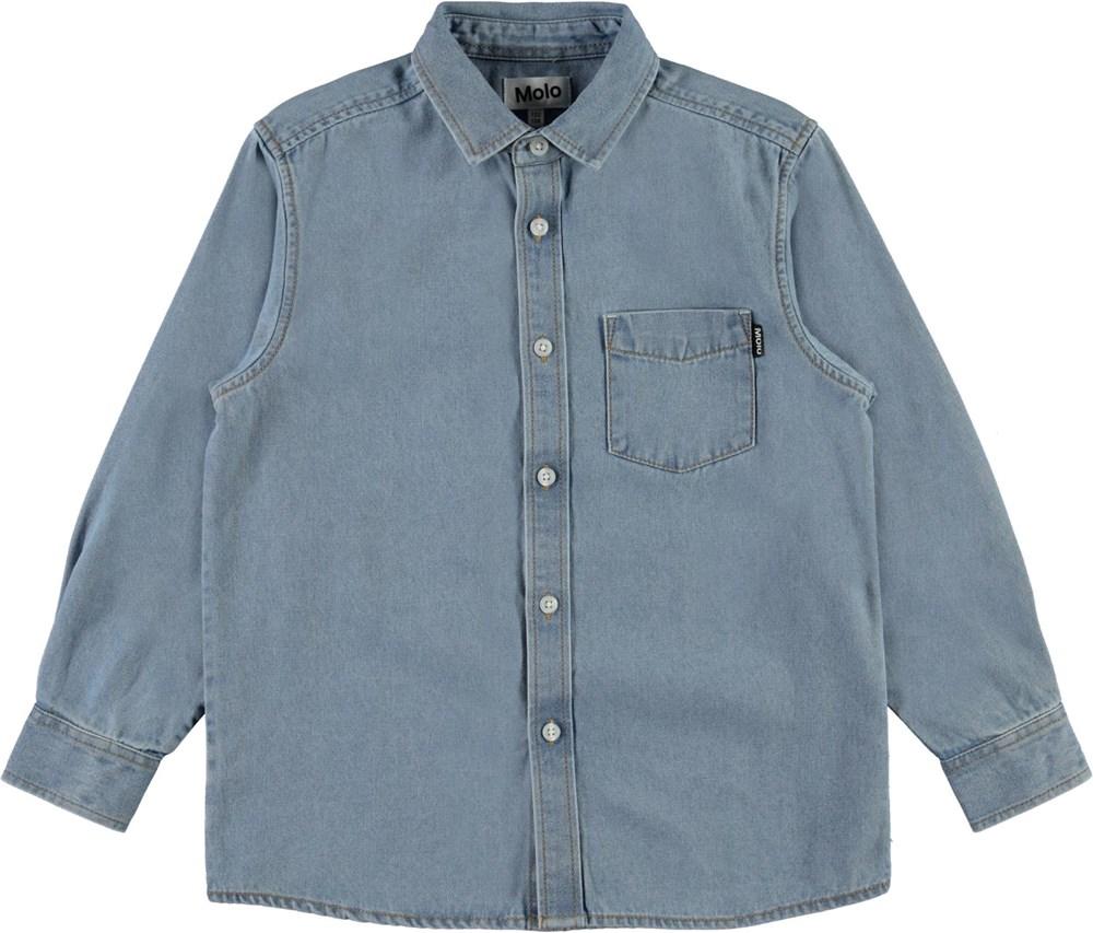 Reenoz - Light Blue Denim - Lys denim skjorte