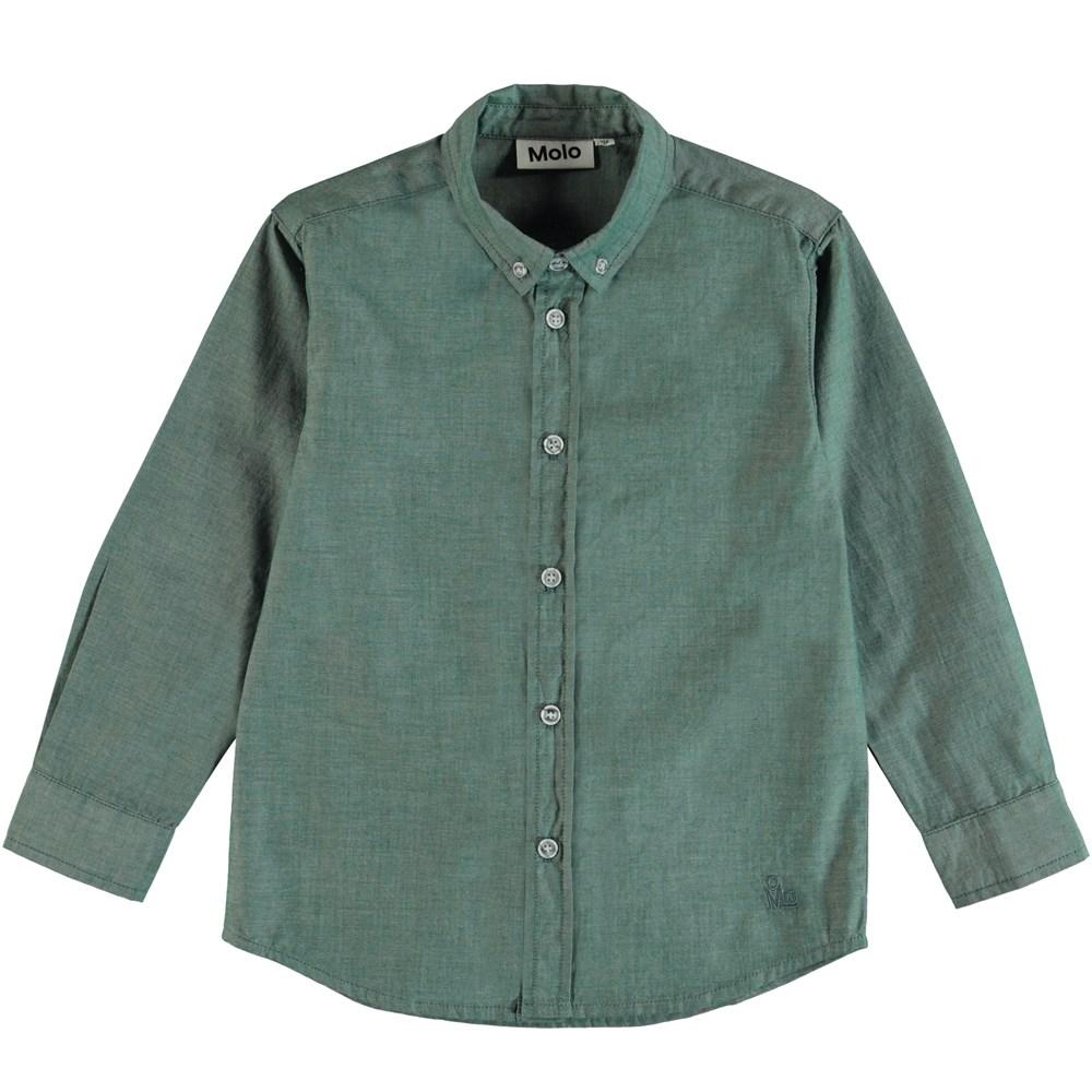 Rimmer - Galapagos Green - Klassisk skjorte i grøn.