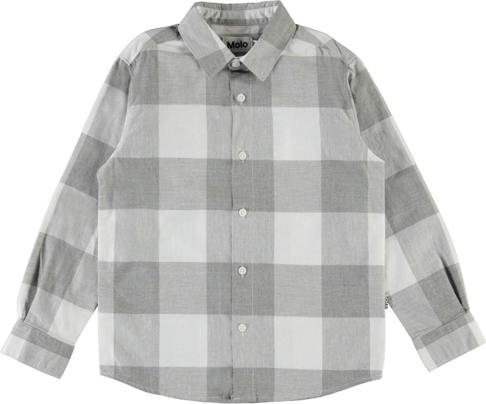 Russy - Grey Check - Grå og hvid ternet skjorte