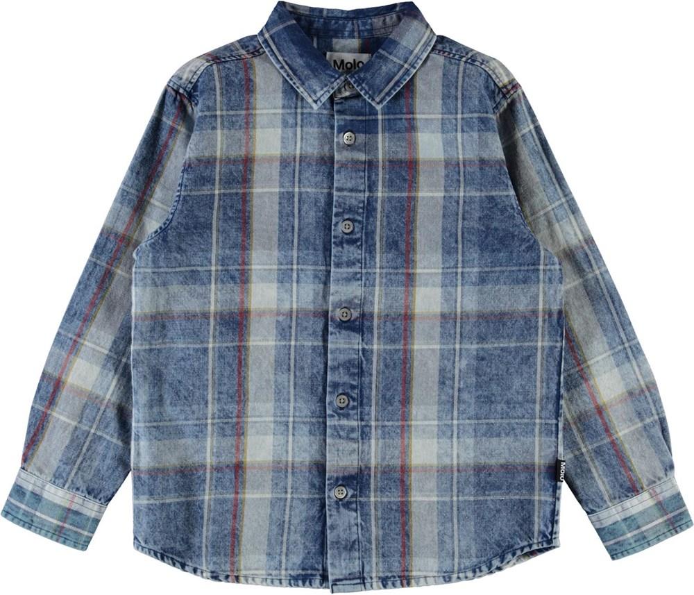 Russy - Indigo Check - Blå ternet skjorte