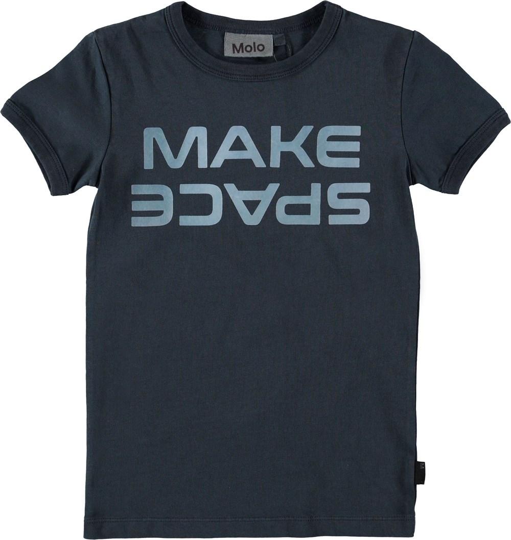 Rad - Carbon - Mørkeblå t-shirt med make space.