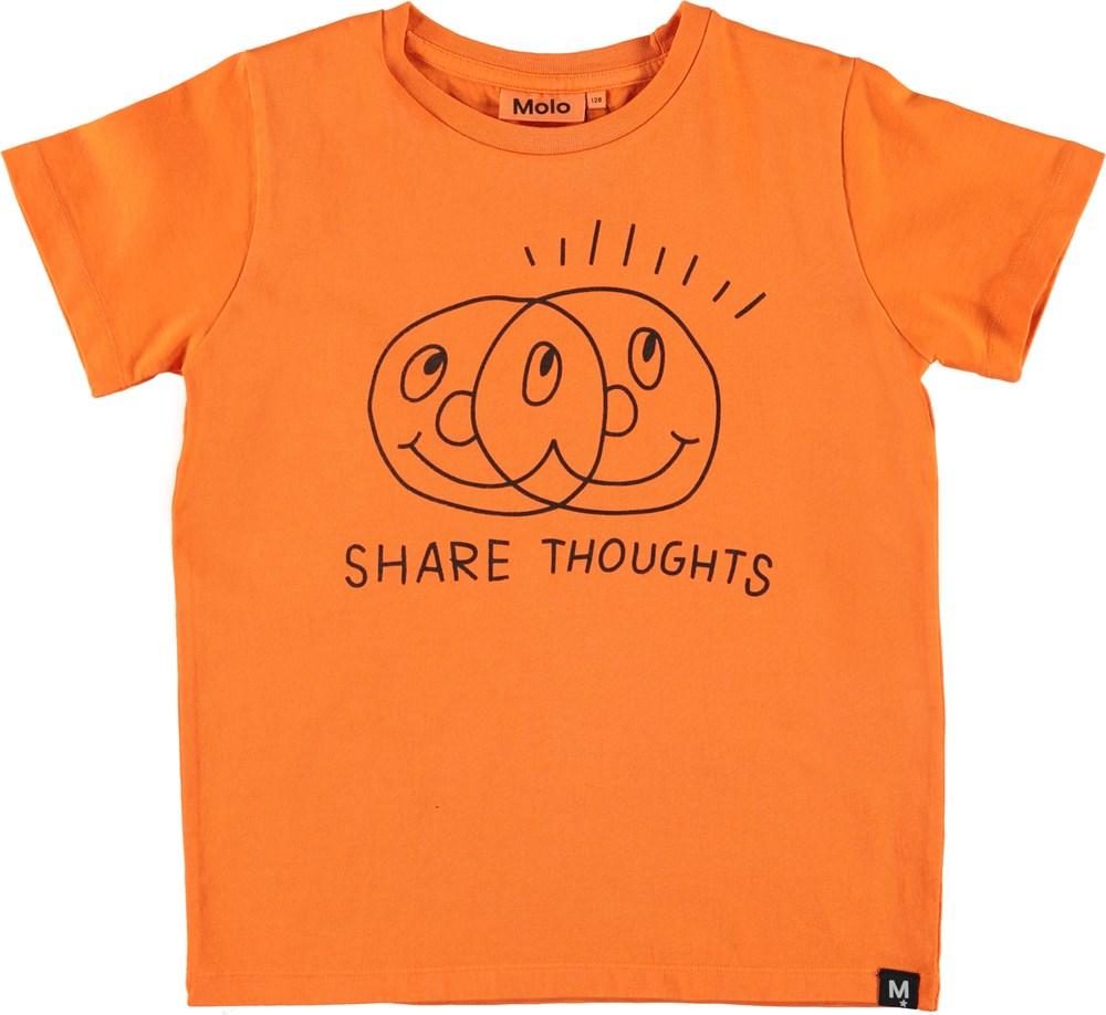 Raddix - Exuberance - Orange t-shirt med smileys
