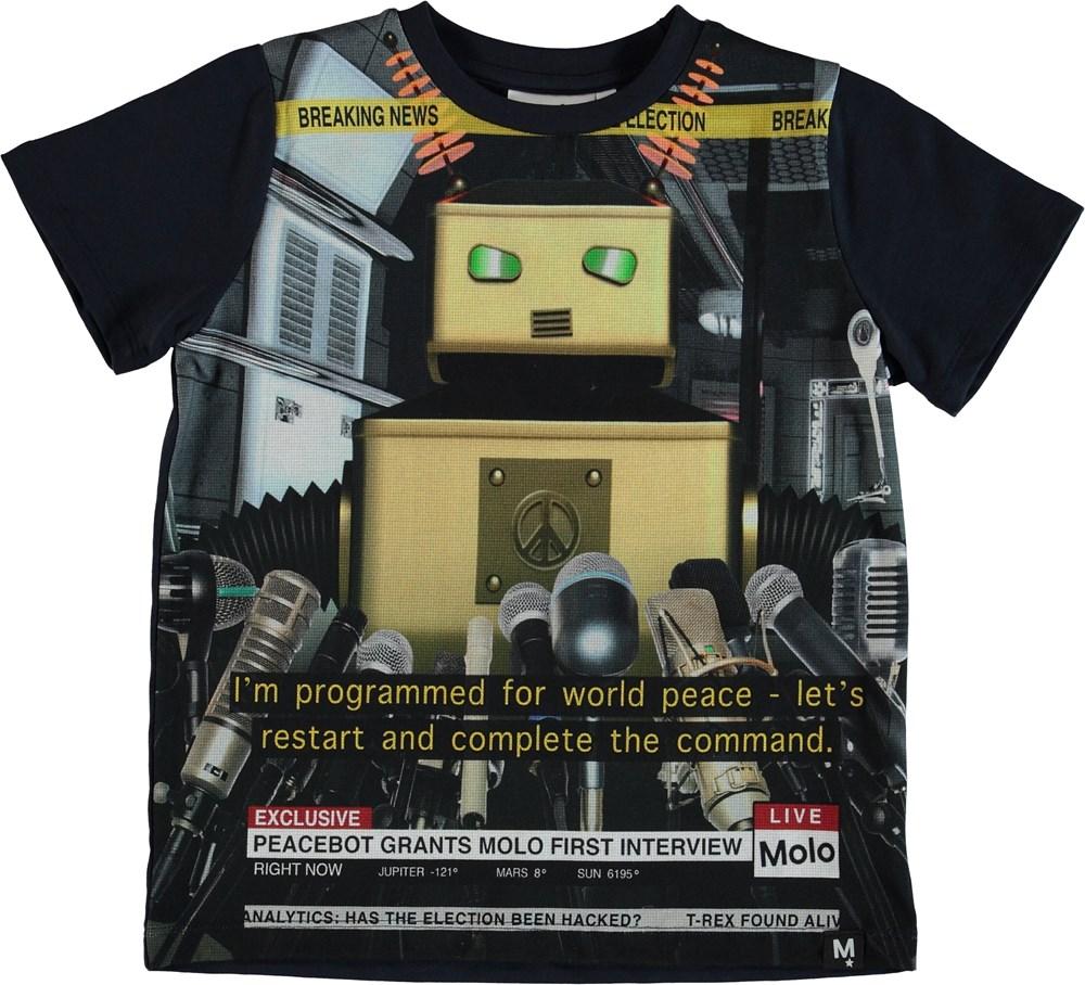 Raddix - Peace Bot - T-shirt med nyheds robot.