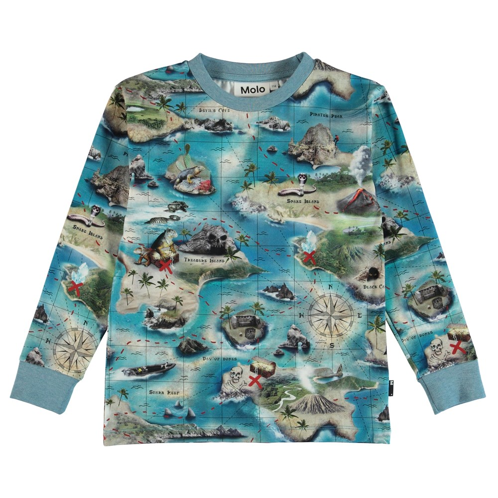 Rai - Treasure Map - Bluse - S