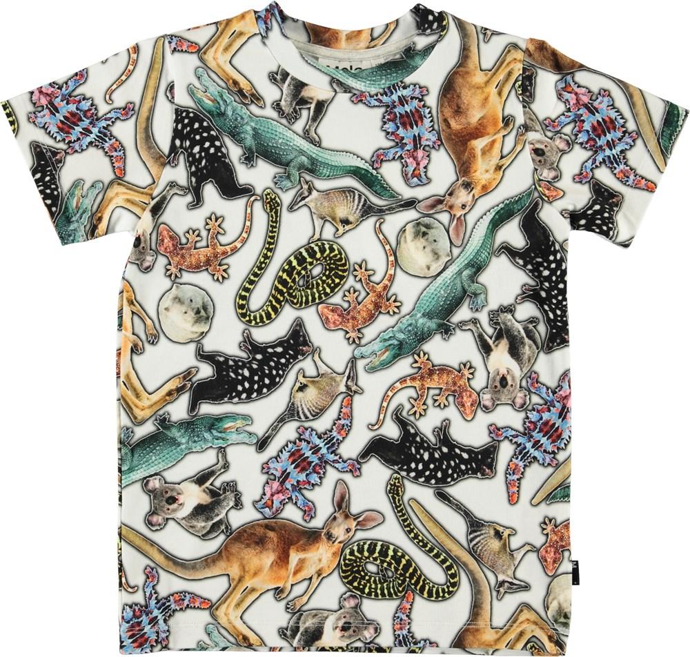Ralphie - Australian Animals - Hvid t-shirt med print af dyr