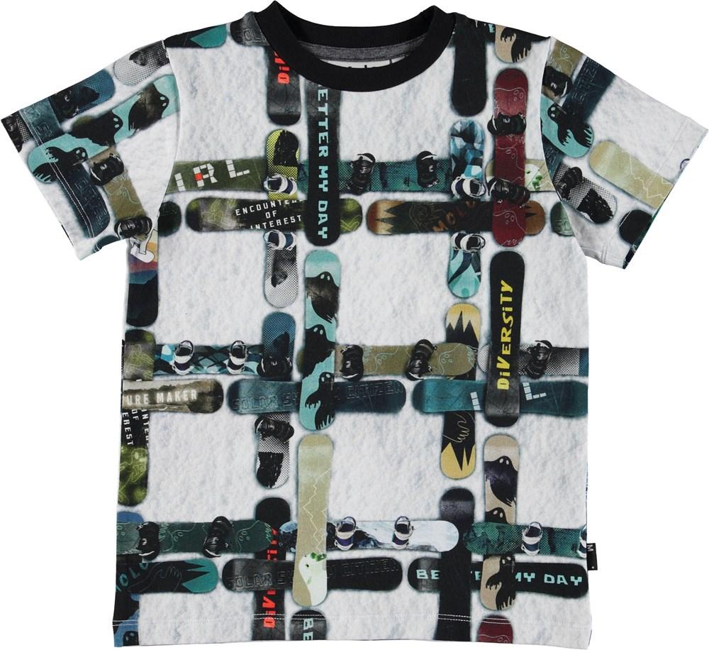 Ralphie - Snowboard Check - T-shirt med snowboards.