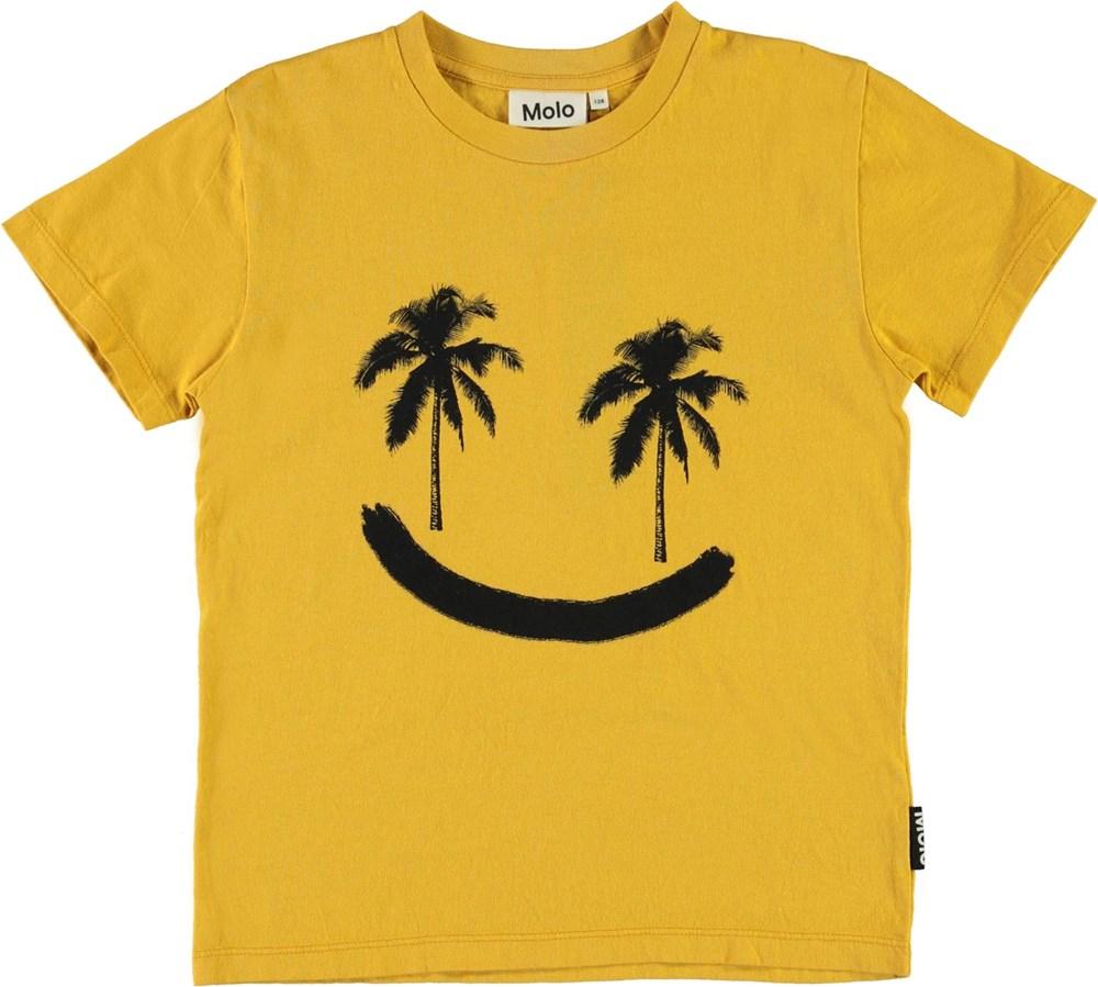Rame - Sunrise - Gul smiley palme t-shirt