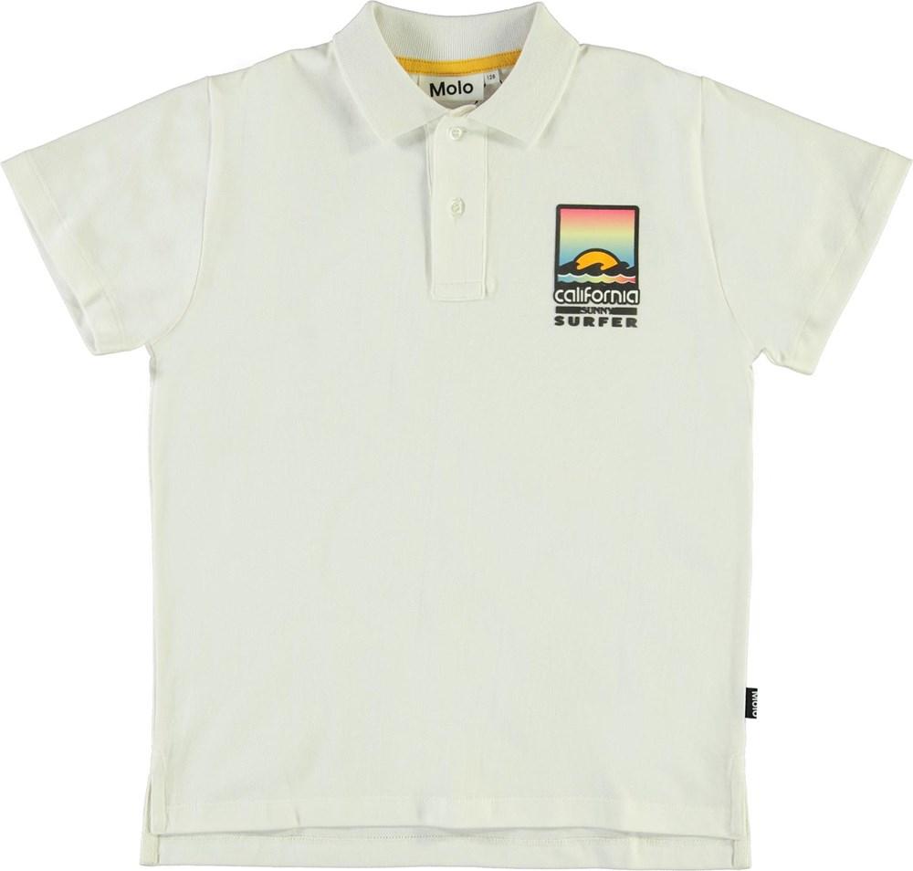 Ramon - White - Økologisk hvid polo california t-shirt