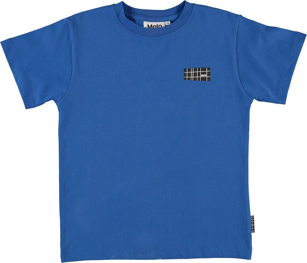 Rasmus - Cobalt - Økologisk blå t-shirt