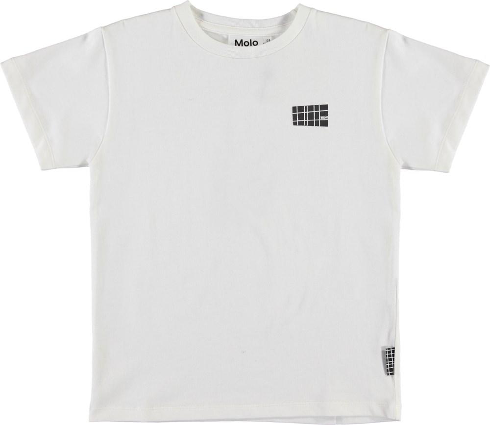 Rasmus - White Star - Økologisk hvid t-shirt