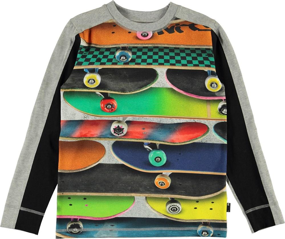 Raso - Skateboards - Bluse med skateboard print.