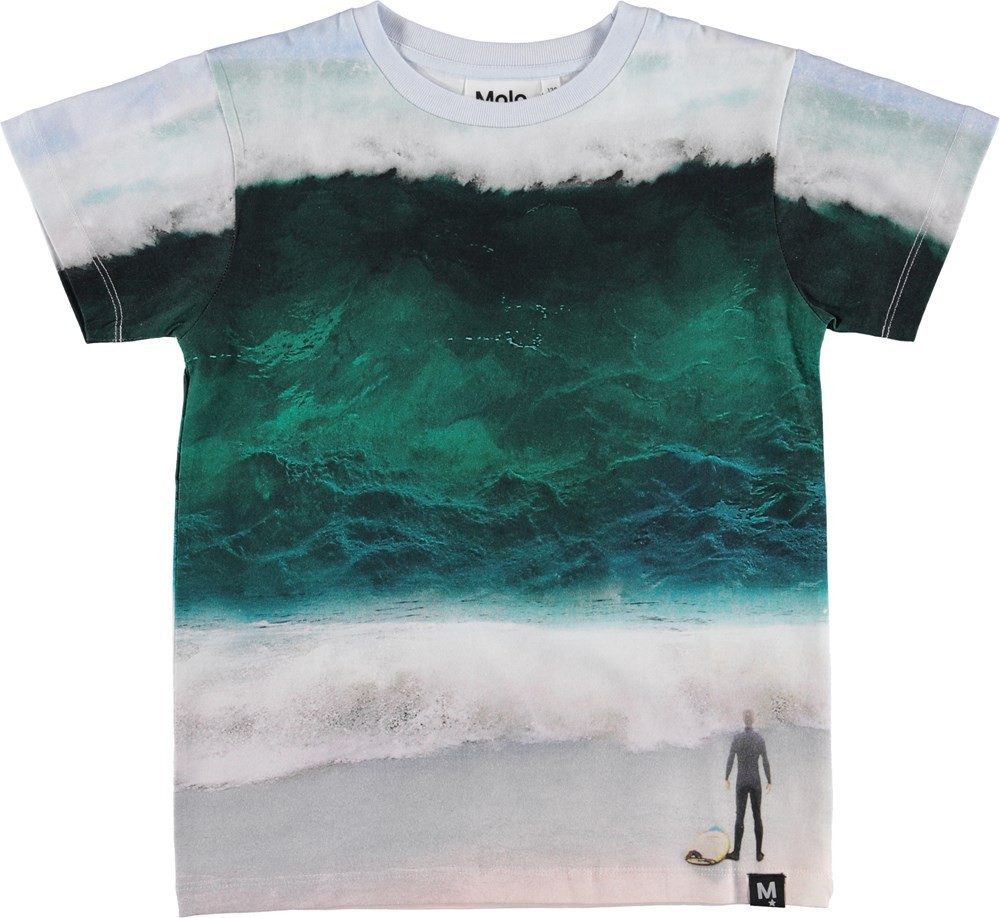 Raul - The Big Wave - T-shirt med hav print