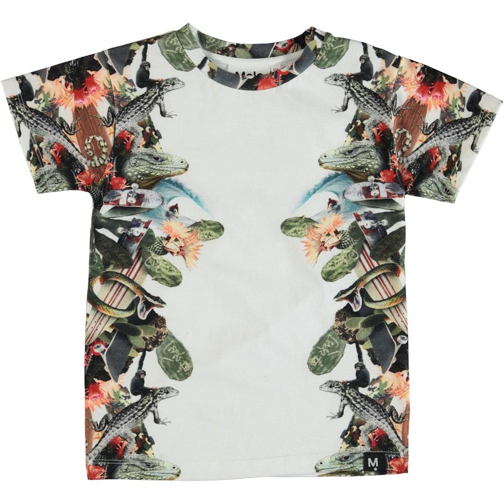 Raul - Tropical Fever - T-shirt med tropisk print