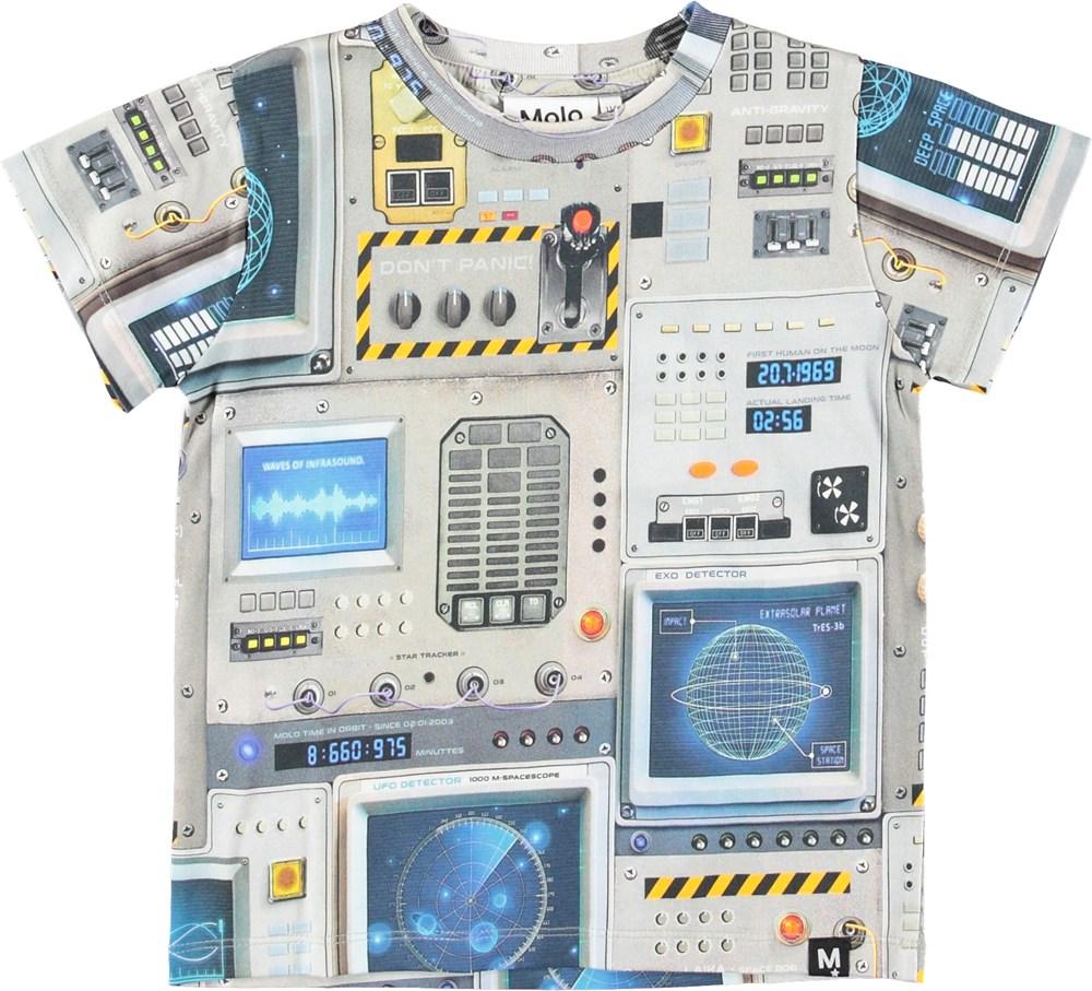 Raymont - Space Navigation - Grå t-shirt med print af cockpit.