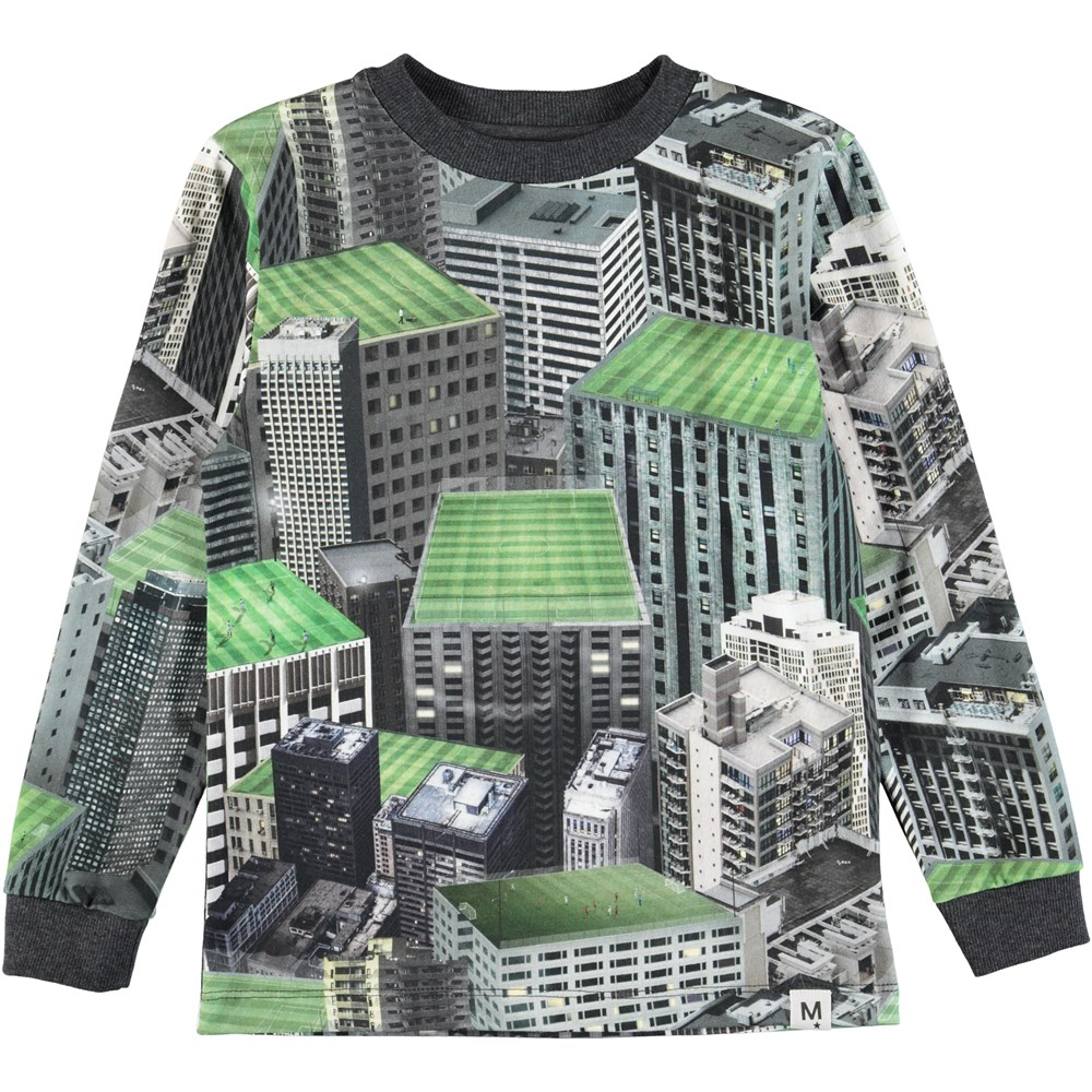 Renzi - Rooftop Games - Sej bluse med rooftop digitalprint