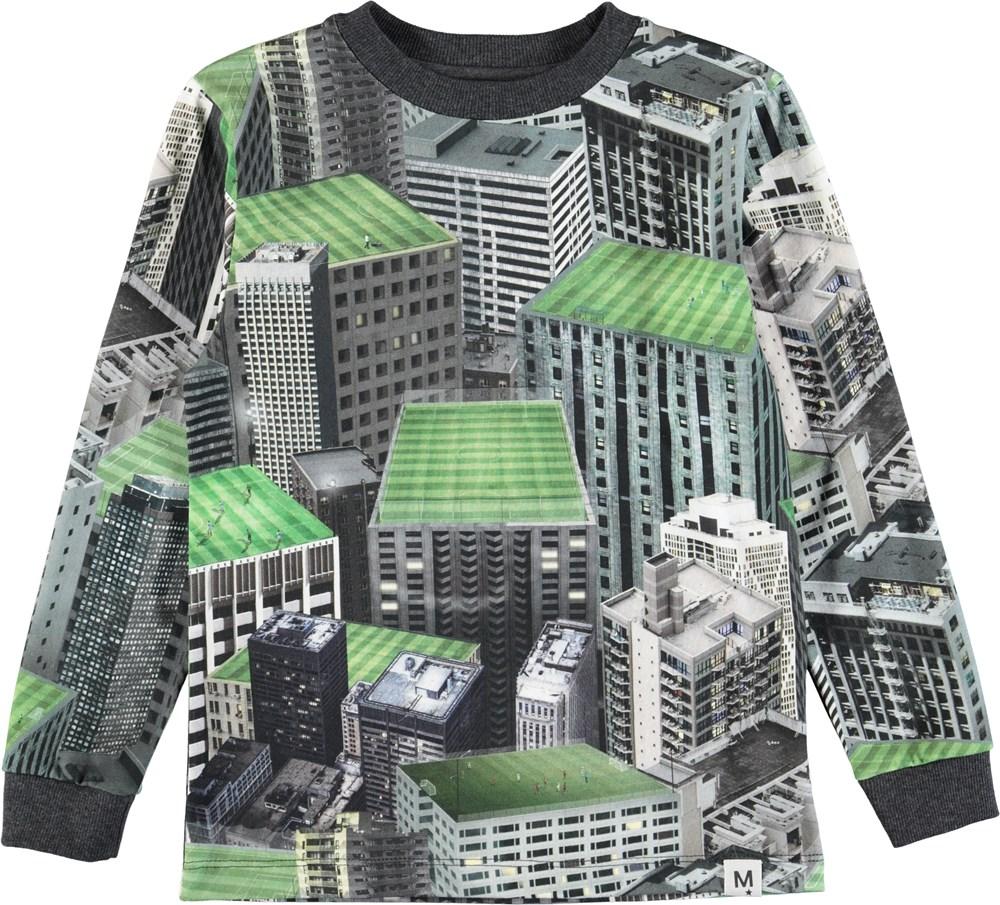 Renzi - Rooftop Games - Sej bluse med rooftop digitalprint