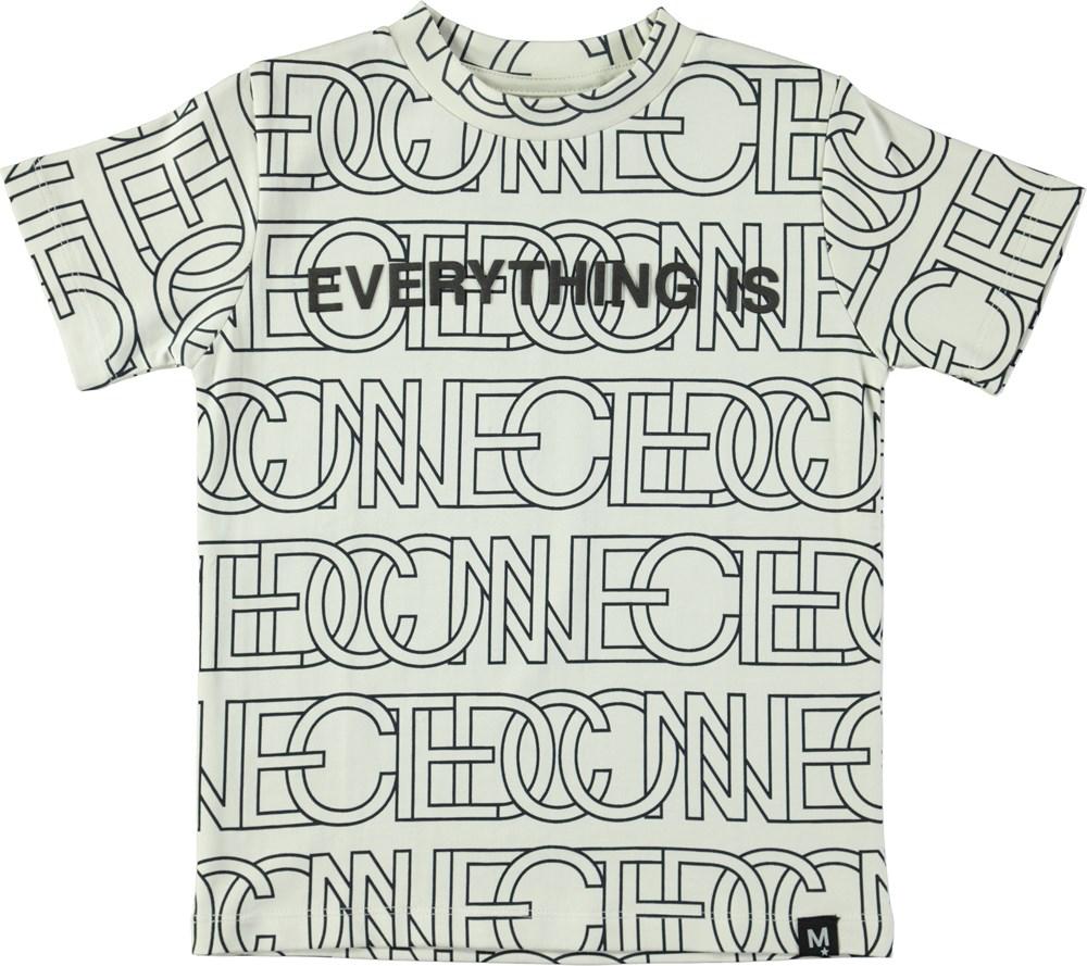 Rezin - Connected - T-shirt med store, grafiske bogstaver