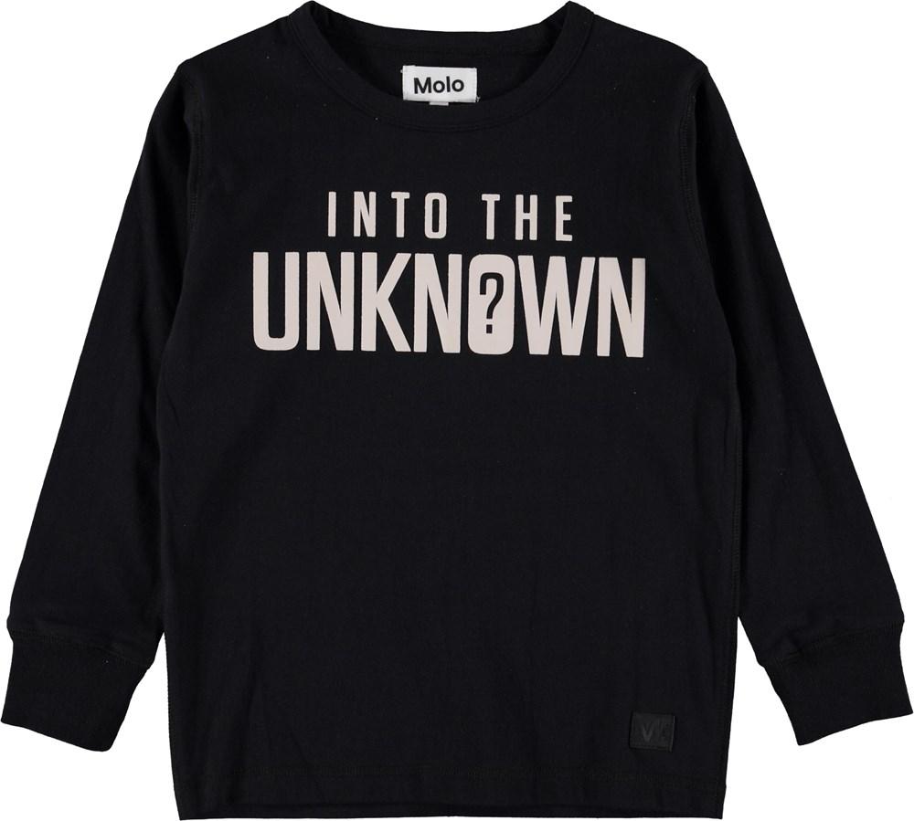 Rill - Black - Sort sweatshirt med tekst.