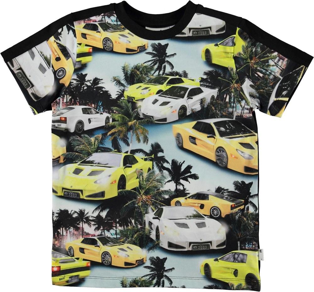 Rishi - Fast Cars - Økologisk t-shirt med bil print