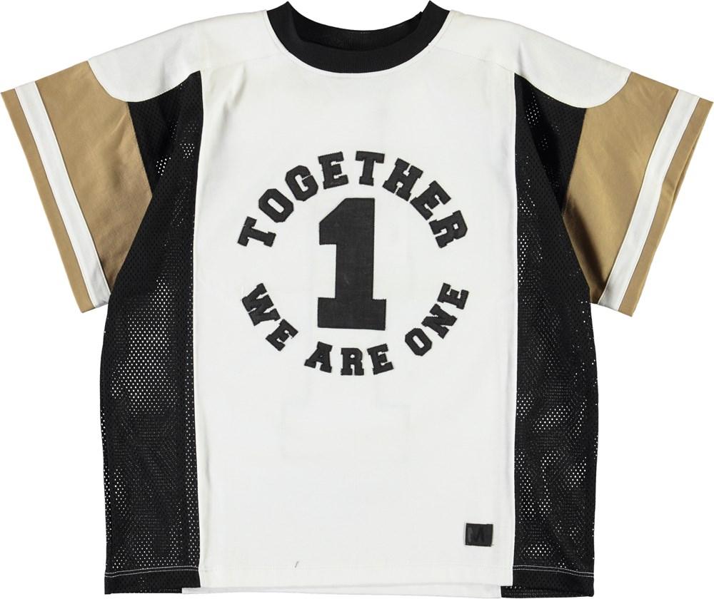 Ritter - White Star - Hvid og sort sports t-shirt