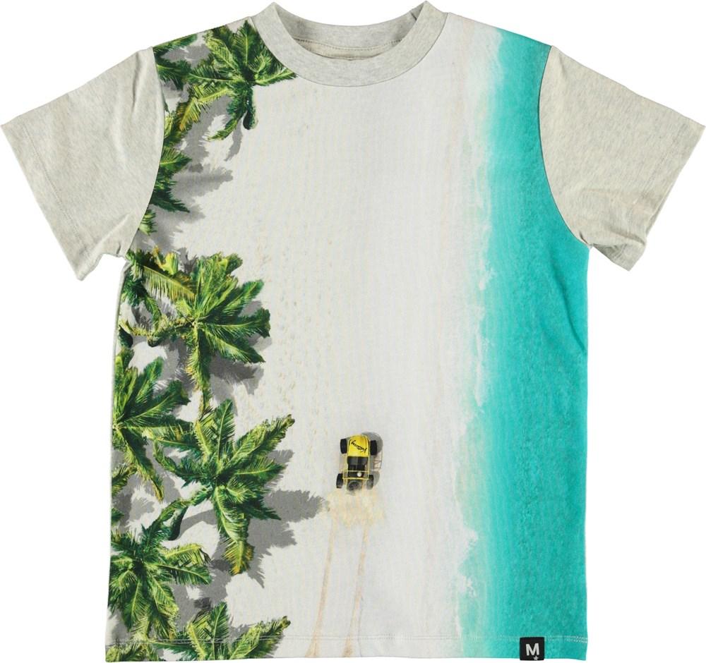 Road - Beach Buggy - T-shirt med strand print