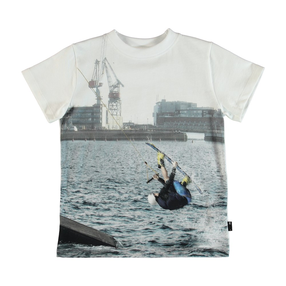 Road - Cable Park - T-Shirt - Hvid