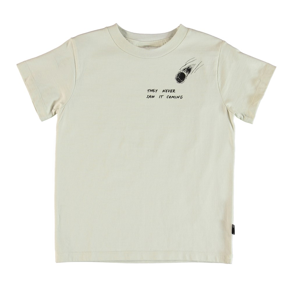Road - Dirty White - T-shirt med print.