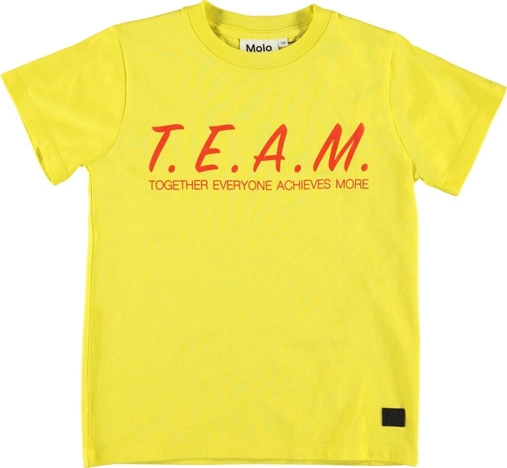 Road - Lemon - Gul t-shirt med team print