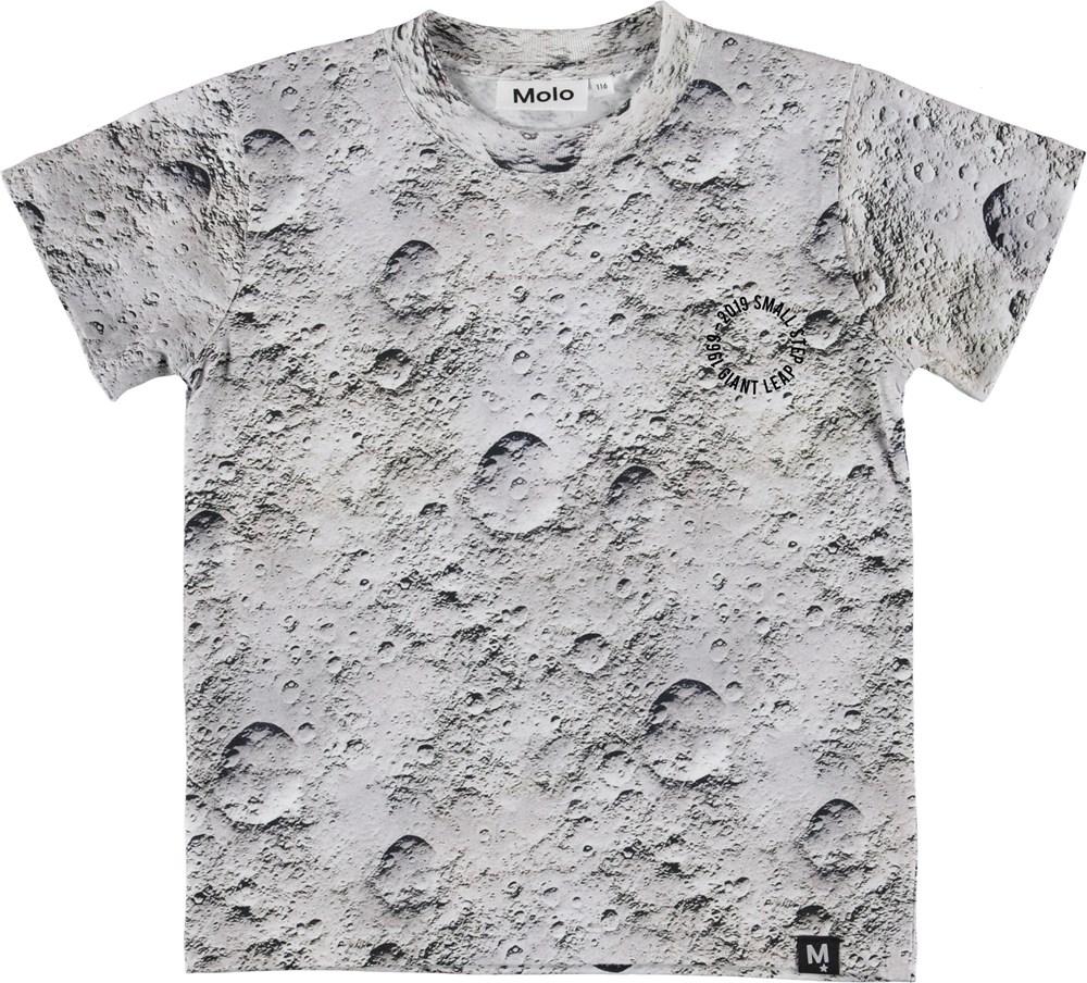 Road - Moon - Grå t-shirt med måne print.