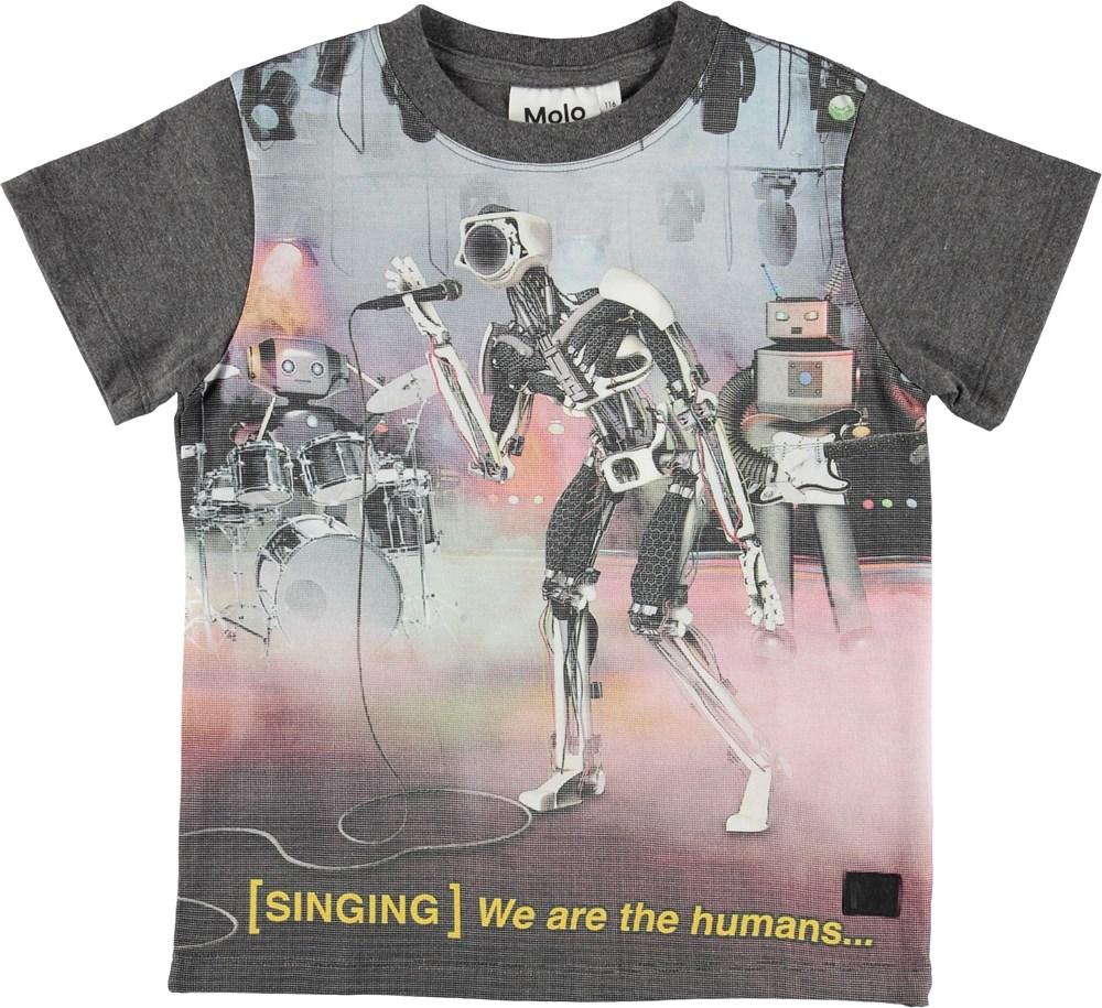 Road - Robot Band - T-shirt med syngende robot.