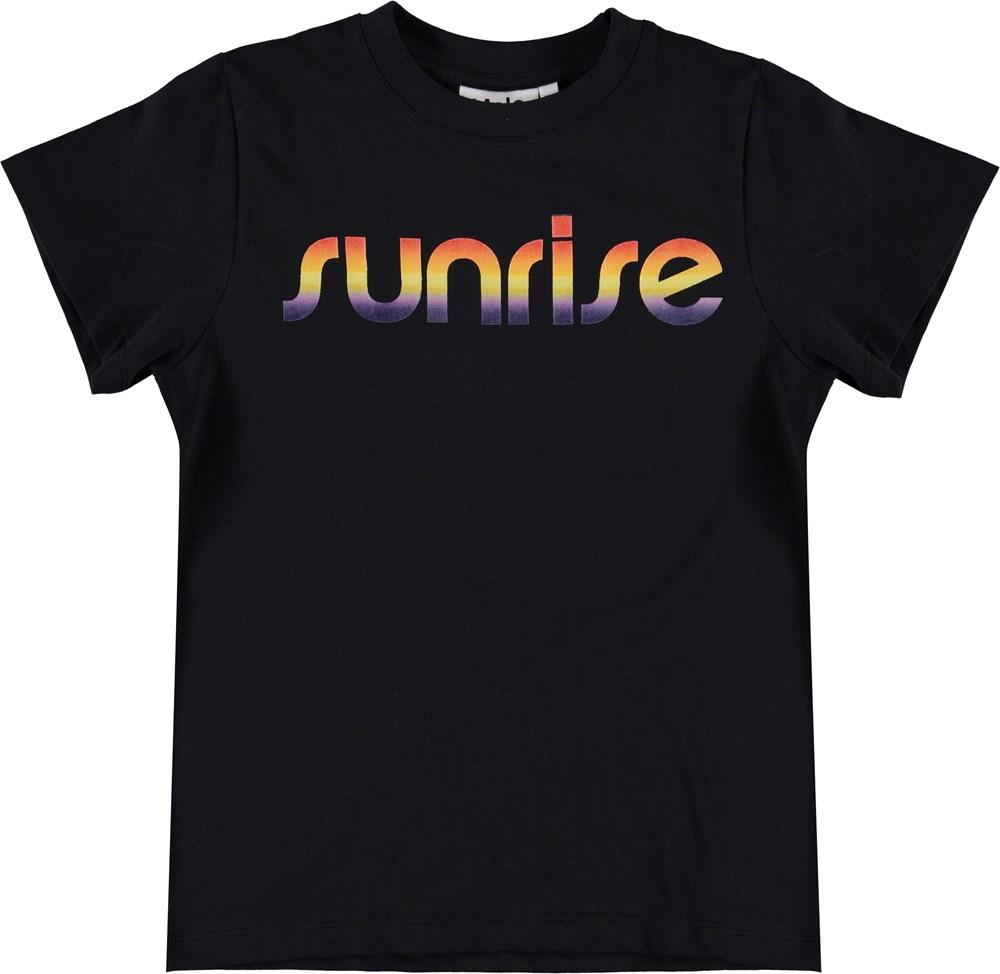 Road - Black - Sort t-shirt med sunrise print