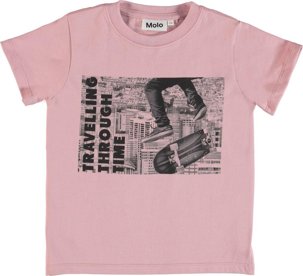 Road - Through Time - Rosa t-shirt med print