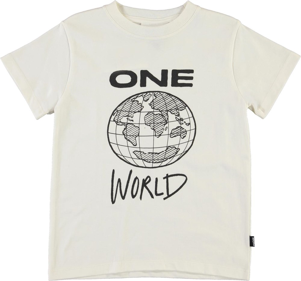 Road - White Star - Økologisk hvid t-shirt one world