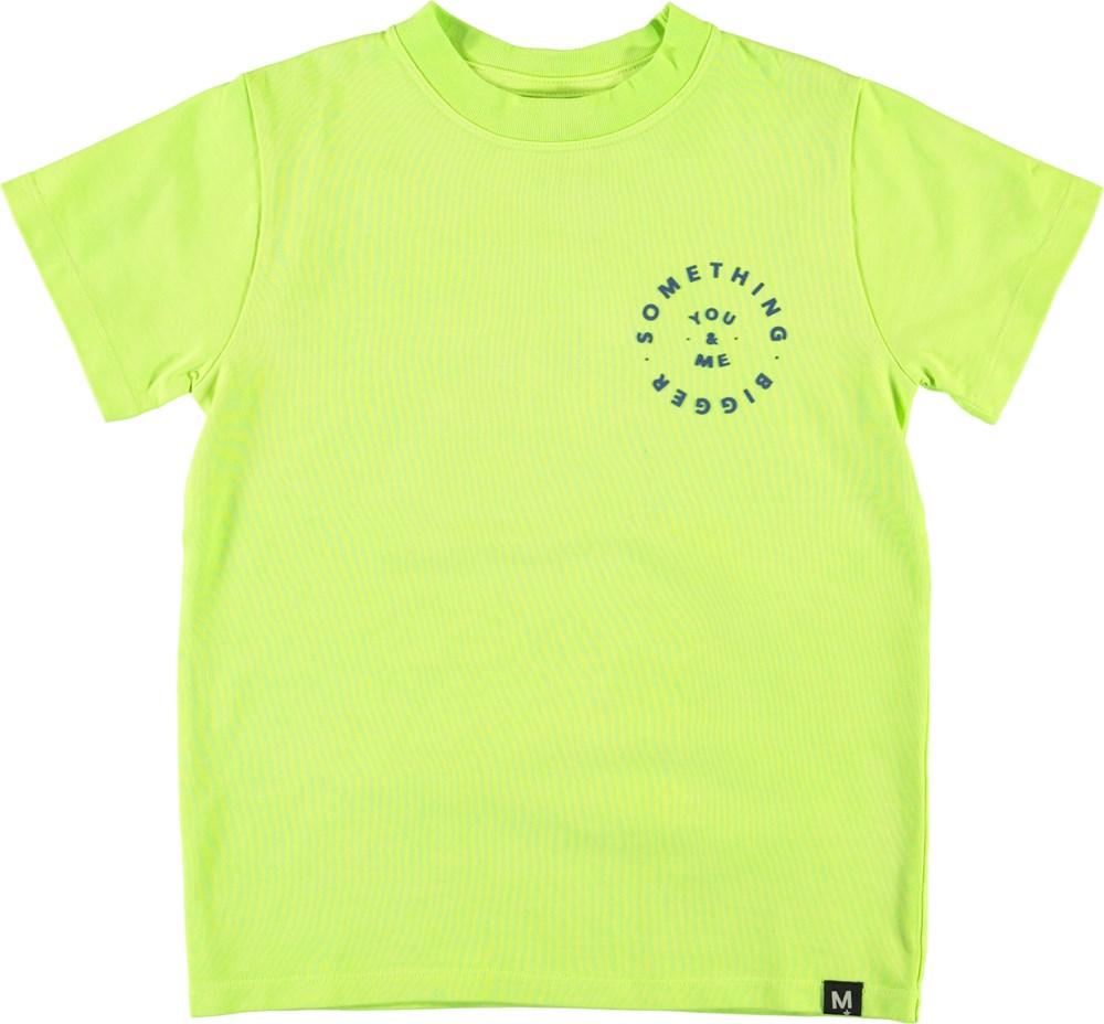 Road - You - Me - Neon grøn t-shirt