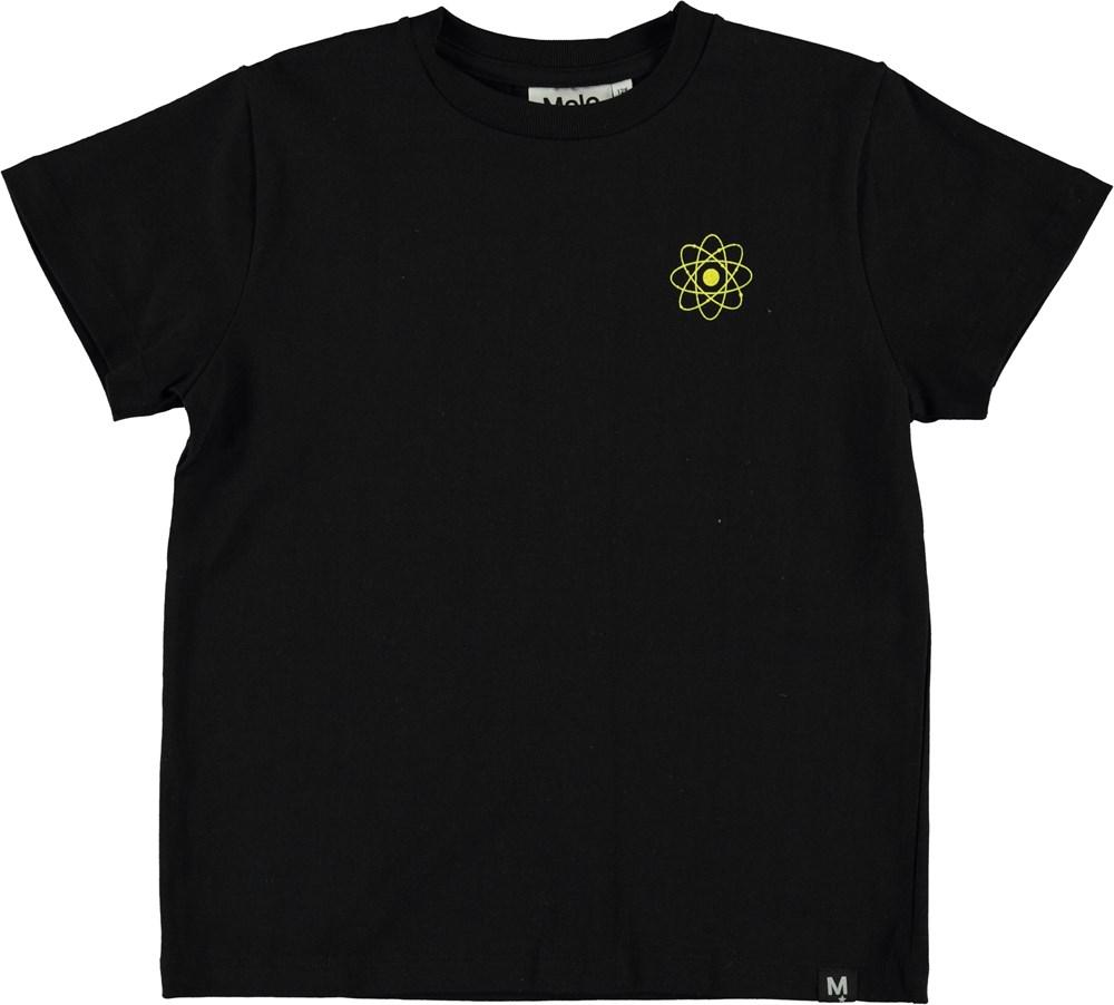 Roxo - Figures Black - Sort t-shirt med gul figur