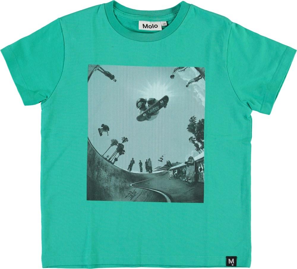 Roxo - Lagoon - Blå grøn skate t-shirt