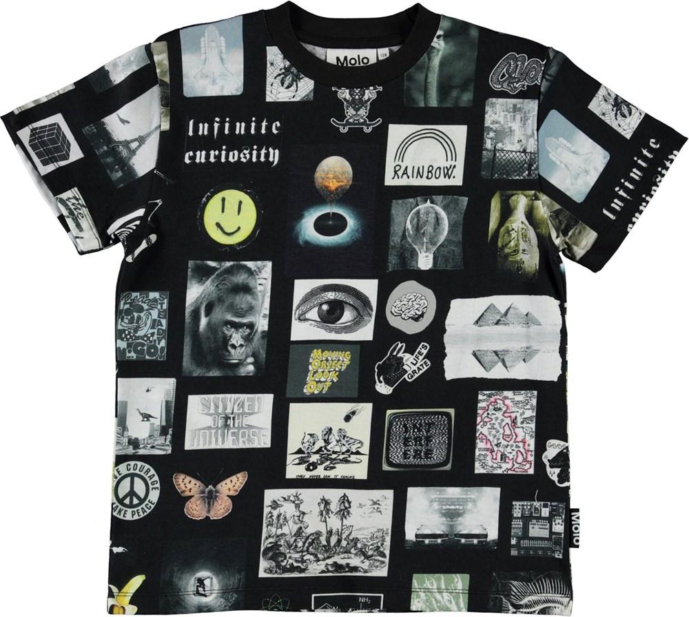 Roxo - Scrapbook Black - Økologisk t-shirt med små billeder