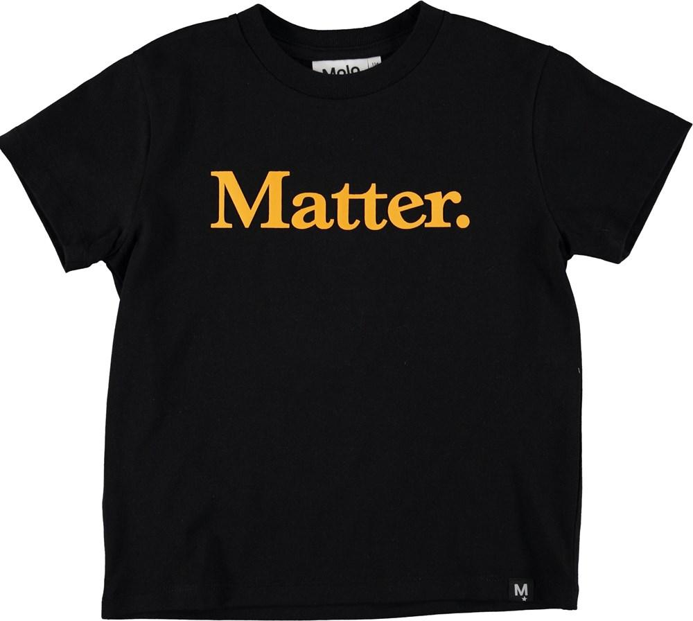Roxo - Black - Sort t-shirt med teksten Matter.