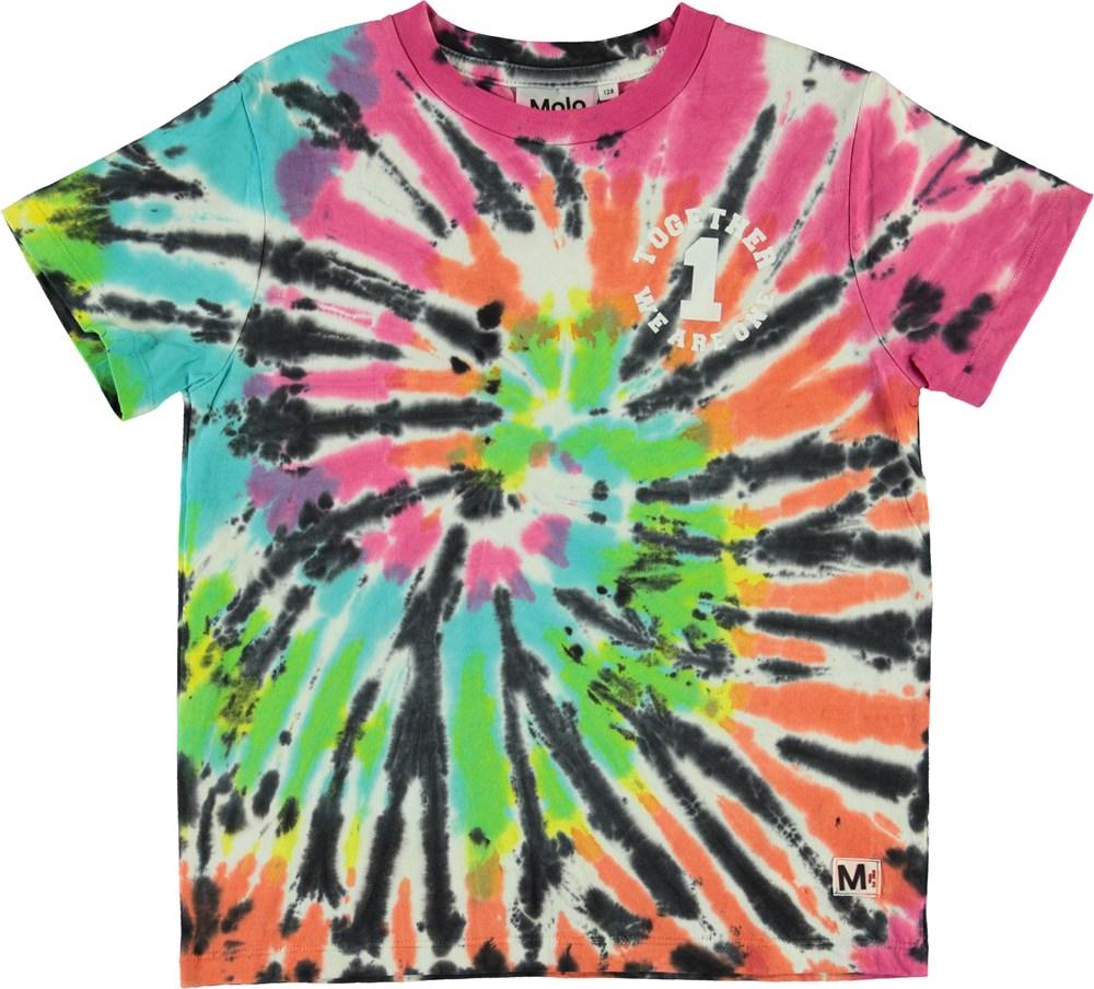 Roxo - Tie Dye Multi - Multifarvet tie-dye t-shirt