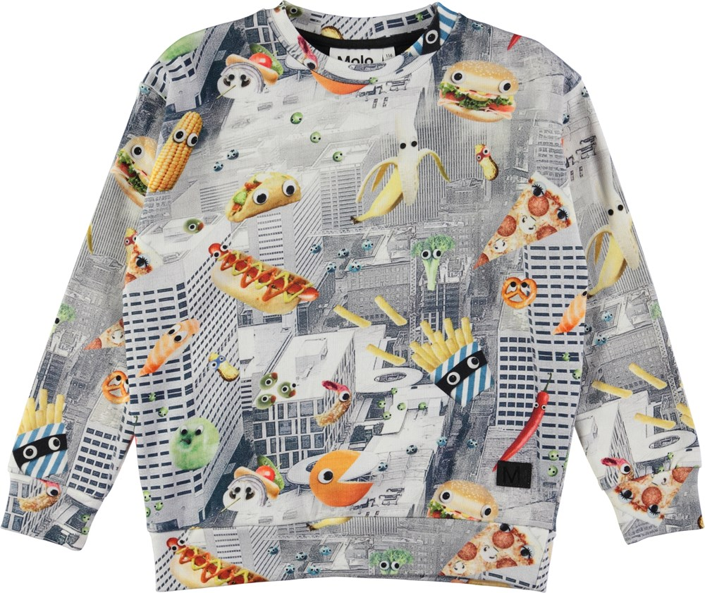 Madsim - Fun And Fast - Sweatshirt med fast food digitalprint