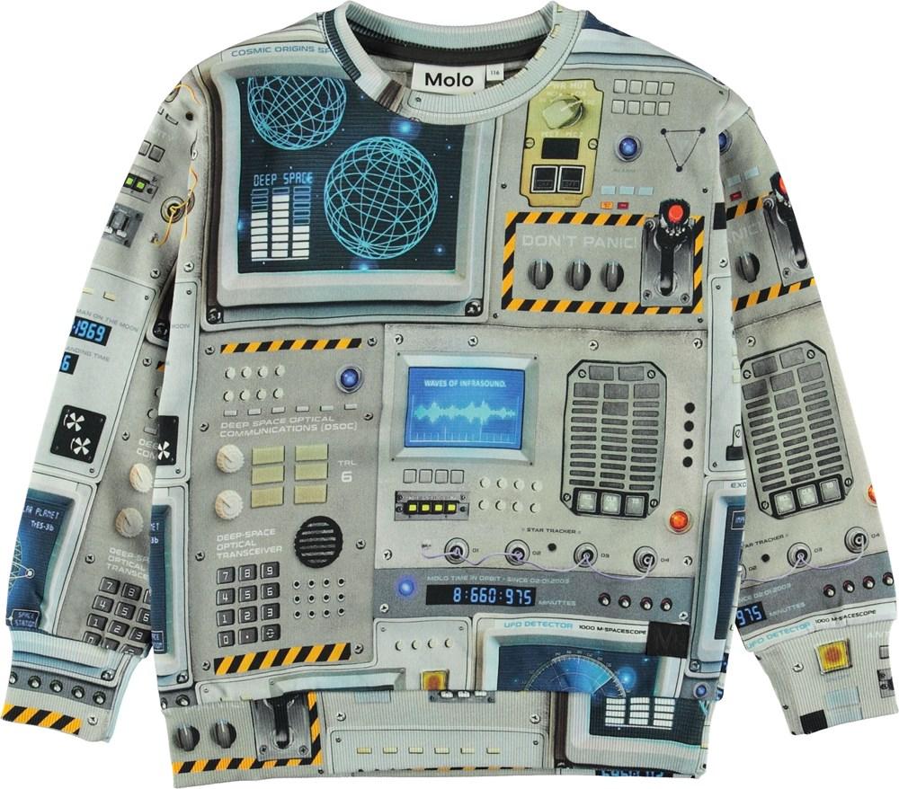 Madsim - Space Navigation - Sweatshirt med cockpit print.