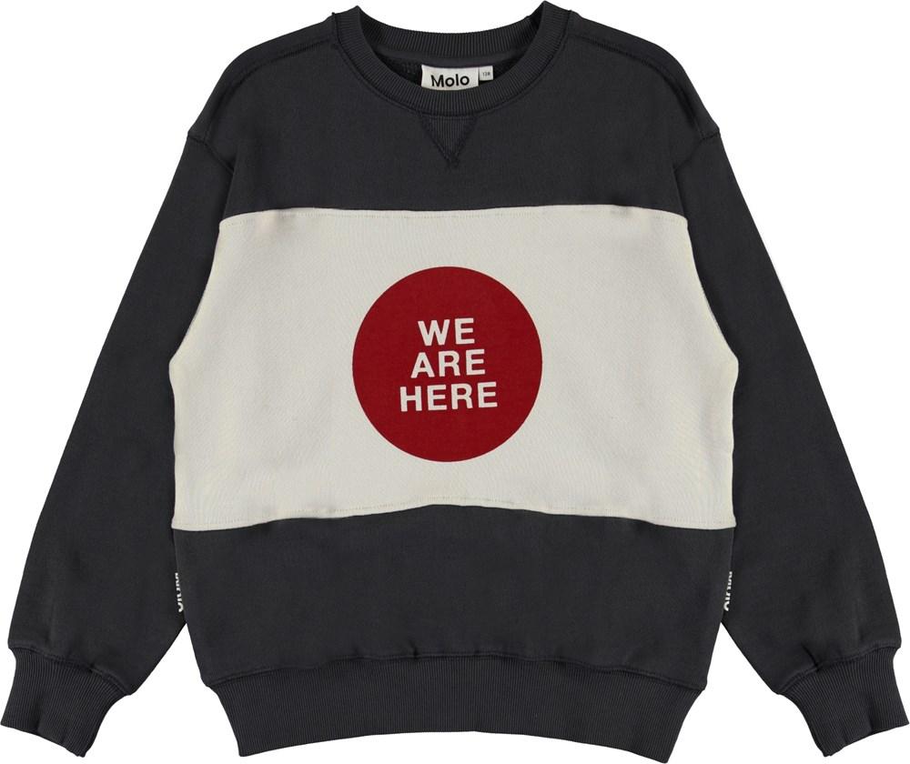 Mann - Night Grey - We are here grå sweatshirt