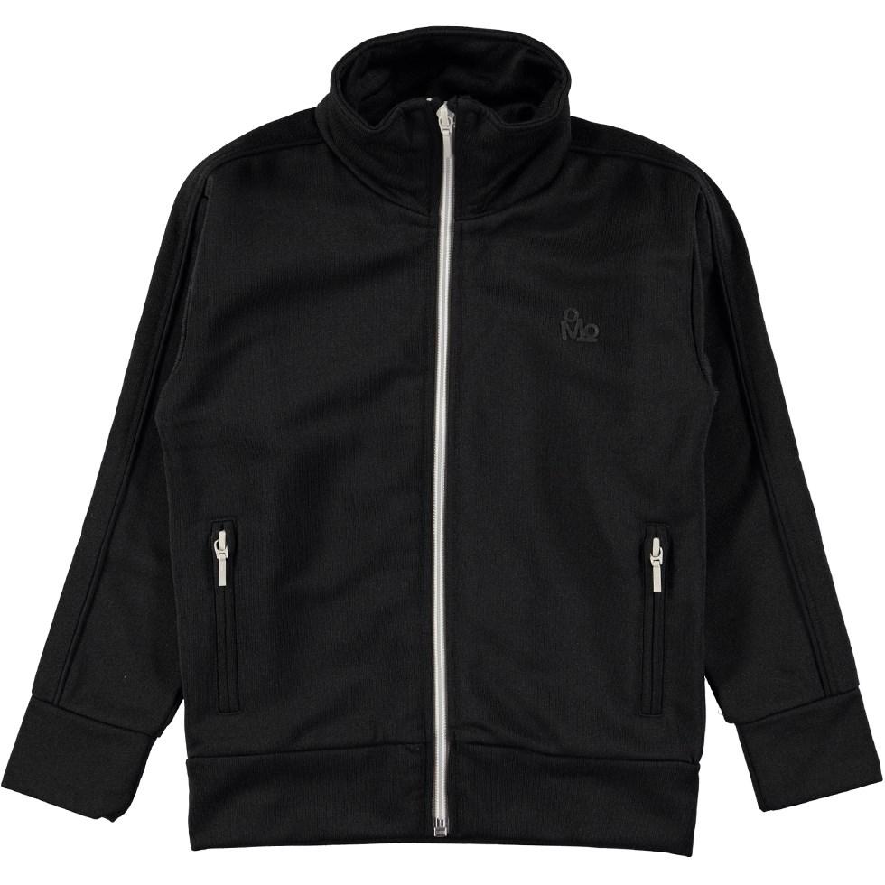 Master - Black - Sort track sweatshirt med lynlås