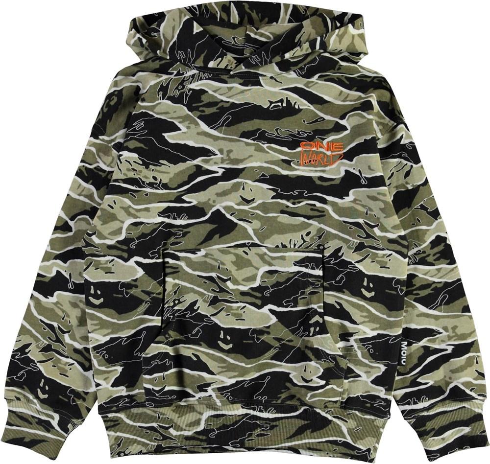 Matt - Happy Camo - Økologisk camouflage sweatshirt