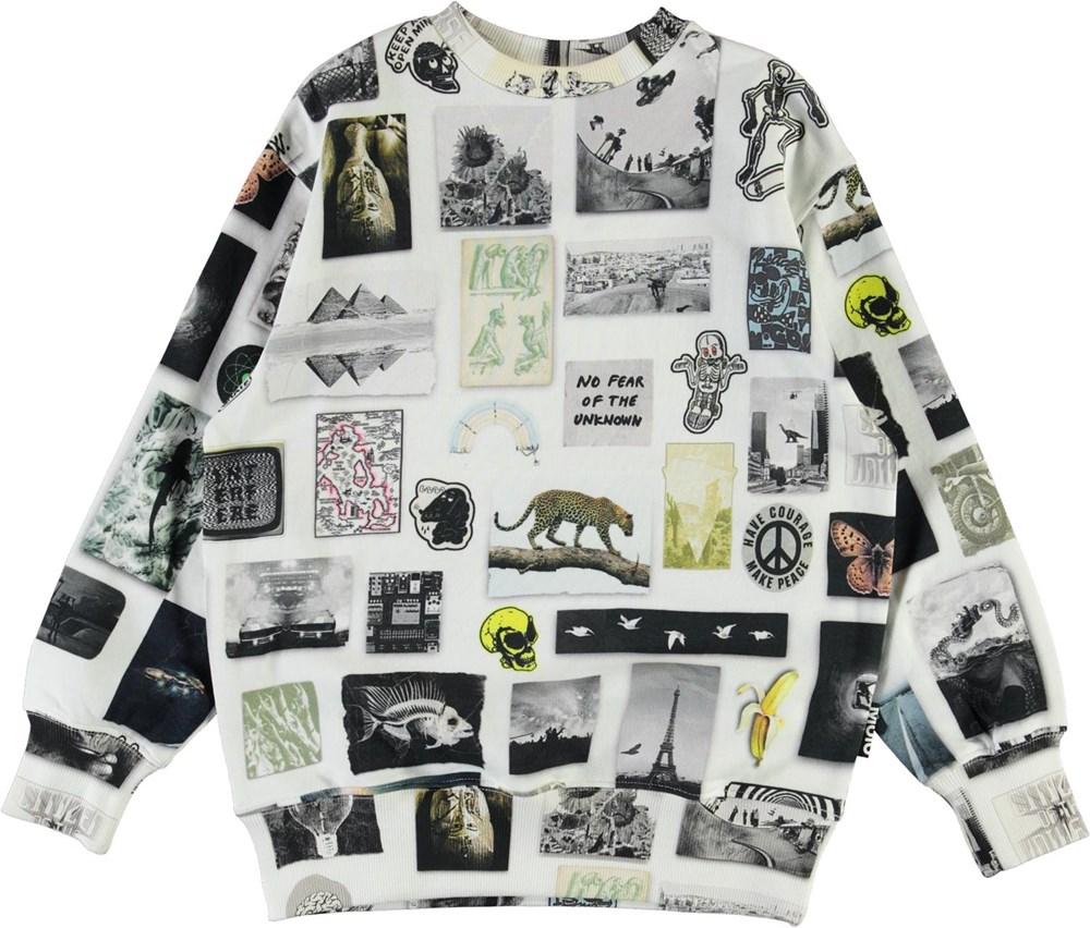 Mattis - Scrapbook - Økologisk sweatshirt med billede print