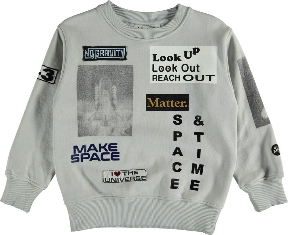 Mik - Antarctica - Grå sweatshirt med tekst.