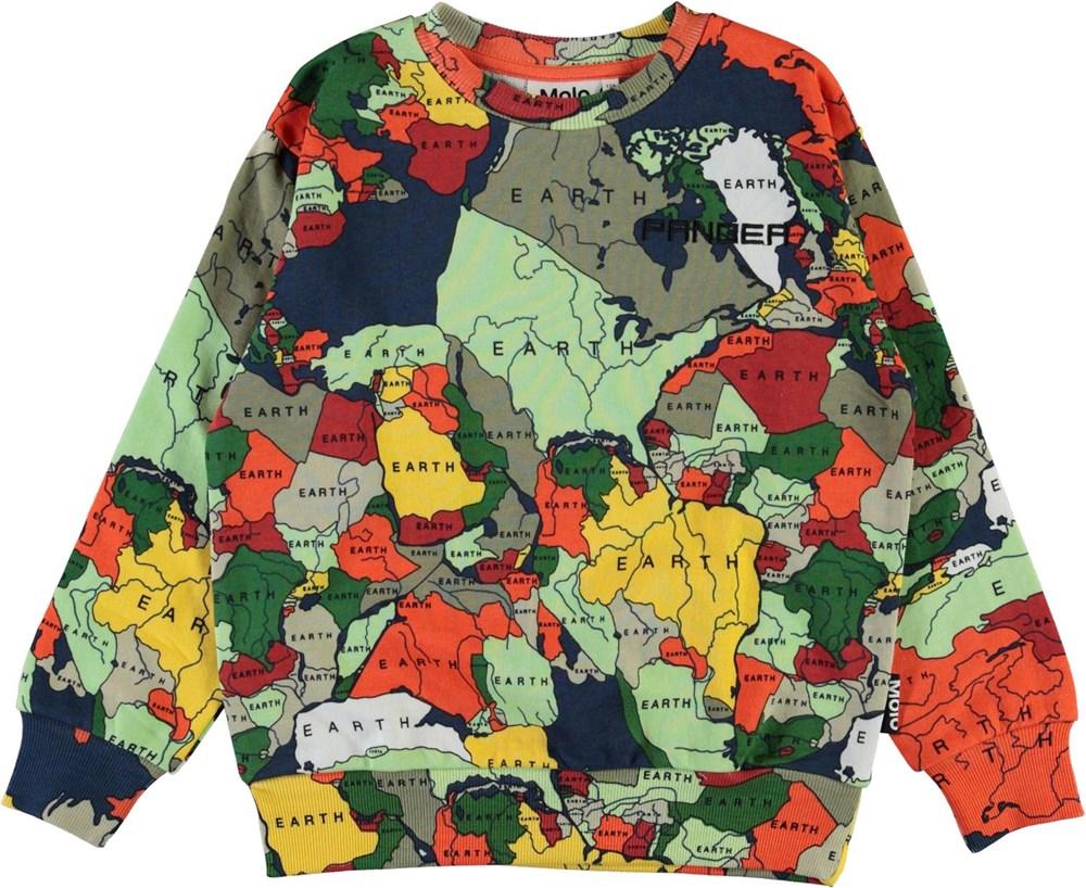 Mik - Pangea Map - Økologisk pangea sweatshirt med lande