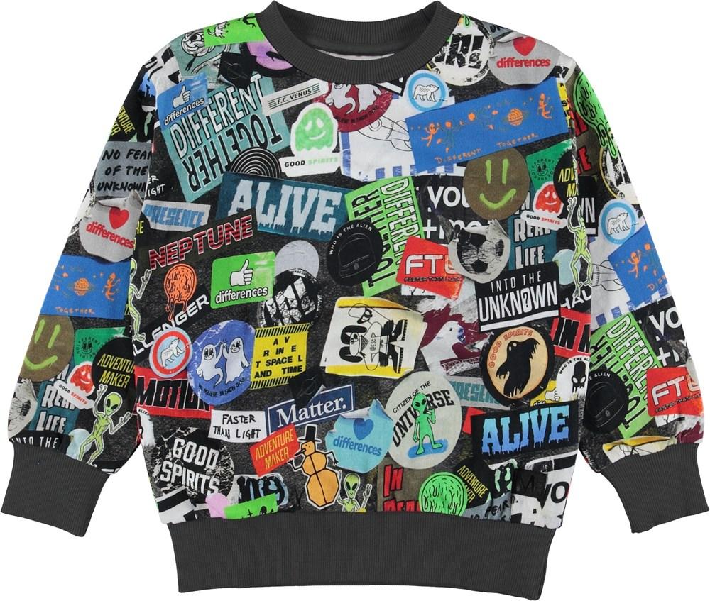 Mik - Stickers - Sweatshirt med klistermærker.